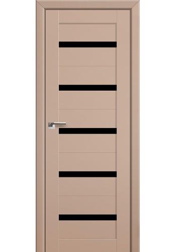 Двери Профиль Дорс 7U Капучино Сатинат Стекло Черный Триплекс