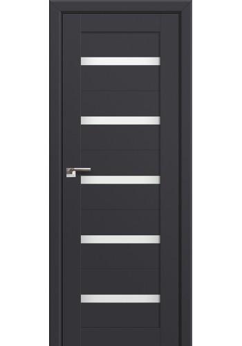 Двери Профиль Дорс 7U Антрацит Стекло Белый Триплекс