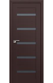 Двери Профиль Дорс 7U Темно-коричневый Стекло Графит