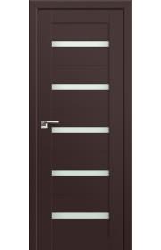 Двери Профиль Дорс 7U Темно-коричневый Стекло Мателюкс
