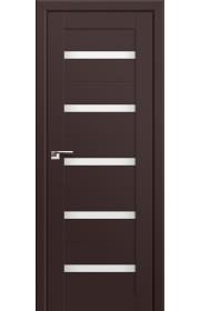 Двери Профиль Дорс 7U Темно-коричневый Стекло Белый Триплекс