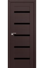 Двери Профиль Дорс 7U Темно-коричневый Стекло Черный Триплекс