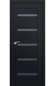 Двери Профиль Дорс 7U Черный матовый Стекло Графит