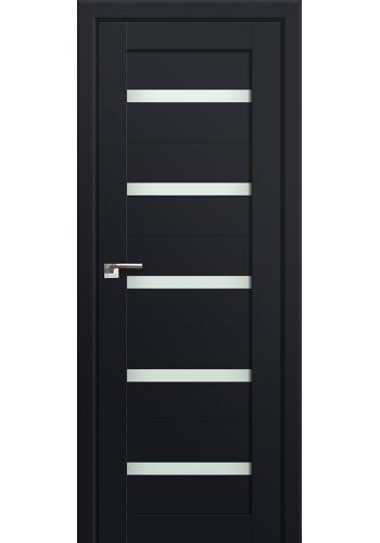 Двери Профиль Дорс 7U Черный матовый Стекло Мателюкс
