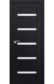 Двери Профиль Дорс 7U Черный матовый Стекло Белый Триплекс