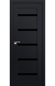 Двери Профиль Дорс 7U Черный матовый Стекло Черный Триплекс