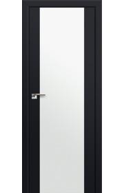 Двери Профиль Дорс 8U Черный матовый Стекло Белый Триплекс