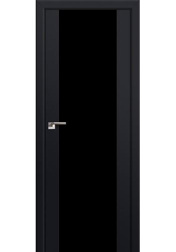Двери Профиль Дорс 8U Черный матовый Стекло Черный Триплекс