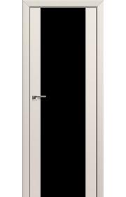 Двери Профиль Дорс 8U Магнолия Сатинат Стекло Черный Триплекс