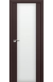 Двери Профиль Дорс 8U Темно-коричневый Стекло Белый Триплекс