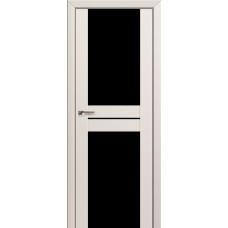 Двери Профиль Дорс 10U Магнолия Сатинат Стекло Черный Триплекс