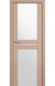 Двери Профиль Дорс 10U Капучино Сатинат Стекло Белый Триплекс