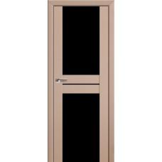 Двери Профиль Дорс 10U Капучино Сатинат Стекло Черный Триплекс