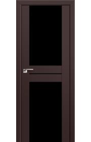 Двери Профиль Дорс 10U Темно-коричневый Стекло Черный Триплекс