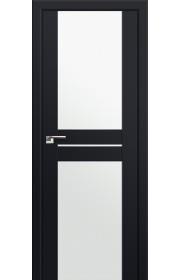 Двери Профиль Дорс 10U Черный матовый Стекло Белый Триплекс