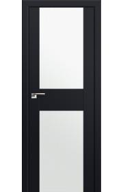 Двери Профиль Дорс 11U Черный матовый Стекло Белый Триплекс