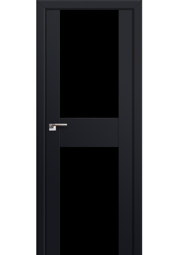 Двери Профиль Дорс 11U Черный матовый Стекло Черный Триплекс