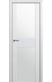Двери Профиль Дорс 11U Аляска Стекло Белый Триплекс