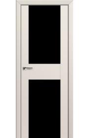 Двери Профиль Дорс 11U Магнолия Сатинат Стекло Черный Триплекс