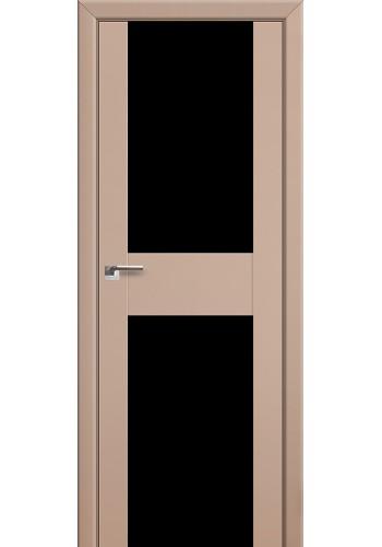 Двери Профиль Дорс 11U Капучино Сатинат Стекло Черный Триплекс