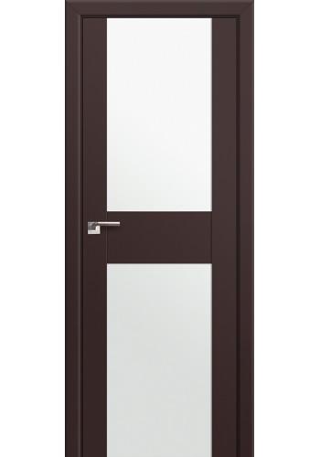 Двери Профиль Дорс 11U Темно-коричневый Стекло Белый Триплекс
