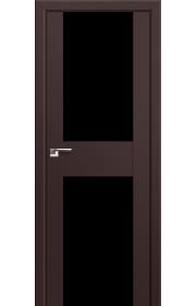 Двери Профиль Дорс 11U Темно-коричневый Стекло Черный Триплекс