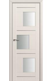 Двери Профиль Дорс 13U Магнолия Сатинат Стекло Белый Триплекс