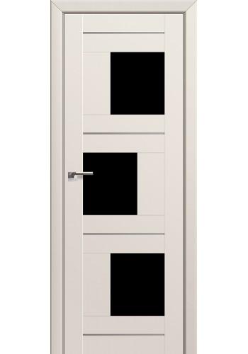 Двери Профиль Дорс 13U Магнолия Сатинат Стекло Черный Триплекс