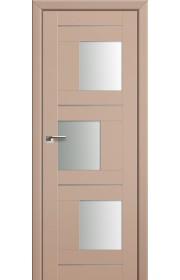 Двери Профиль Дорс 13U Капучино Сатинат Стекло Белый Триплекс