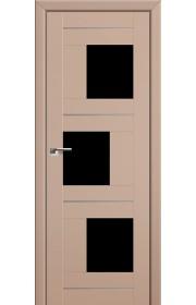 Двери Профиль Дорс 13U Капучино Сатинат Стекло Черный Триплекс