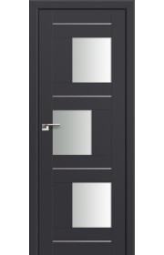 Двери Профиль Дорс 13U Антрацит Стекло Белый Триплекс