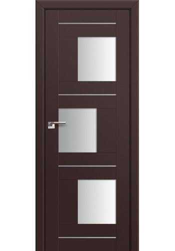 Двери Профиль Дорс 13U Темно-коричневый Стекло Белый Триплекс