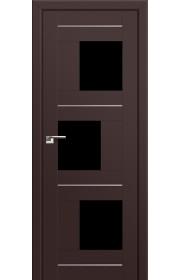 Двери Профиль Дорс 13U Темно-коричневый Стекло Черный Триплекс