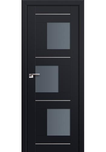 Двери Профиль Дорс 13U Черный матовый Стекло Графит