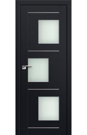 Двери Профиль Дорс 13U Черный матовый Стекло Мателюкс