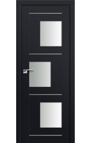 Двери Профиль Дорс 13U Черный матовый Стекло Белый Триплекс