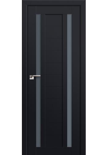 Двери Профиль Дорс 15U Черный матовый Стекло Графит