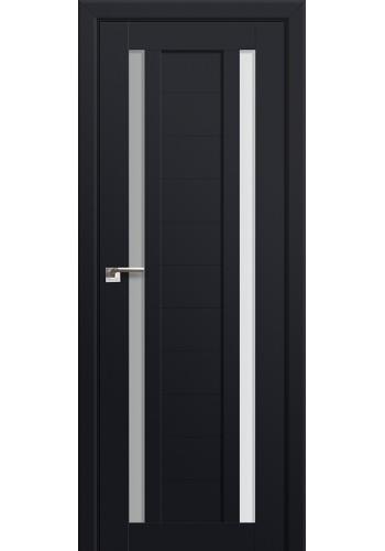 Двери Профиль Дорс 15U Черный матовый Стекло Белый Триплекс