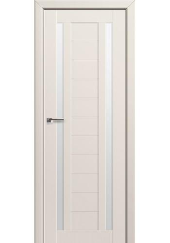 Двери Профиль Дорс 15U Магнолия Сатинат Стекло Белый Триплекс