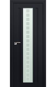 Двери Профиль Дорс 16U Черный матовый Стекло Квадро