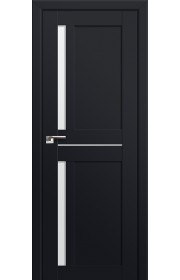 Двери Профиль Дорс 19U Черный матовый Стекло Белый Триплекс
