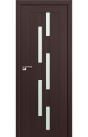 Двери Профиль Дорс 30U Темно-коричневый Стекло Мателюкс