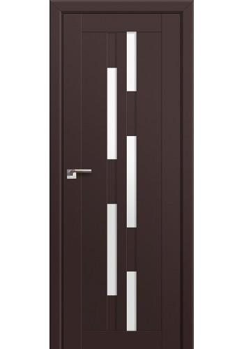 Двери Профиль Дорс 30U Темно-коричневый Стекло Белый Триплекс