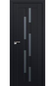 Двери Профиль Дорс 30U Черный матовый Стекло Графит