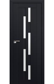 Двери Профиль Дорс 30U Черный матовый Стекло Белый Триплекс