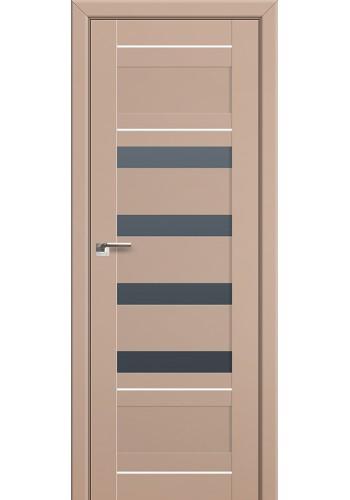 Двери Профиль Дорс 32U Капучино Сатинат Стекло Графит