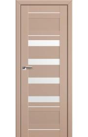 Двери Профиль Дорс 32U Капучино Сатинат Стекло Белый Триплекс