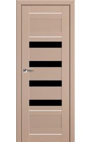 Двери Профиль Дорс 32U Капучино Сатинат Стекло Черный Триплекс