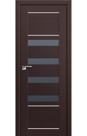 Двери Профиль Дорс 32U Темно-коричневый Стекло Графит