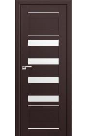 Двери Профиль Дорс 32U Темно-коричневый Стекло Белый Триплекс